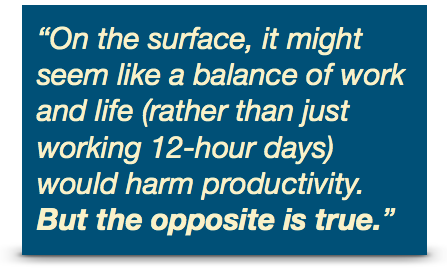 work-life balance productivity call-out quote