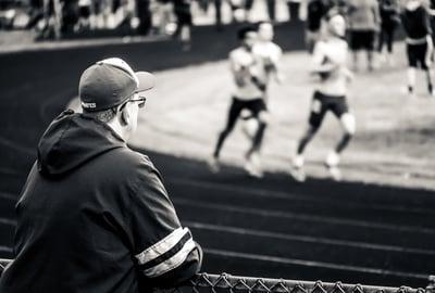 Coach watching performance